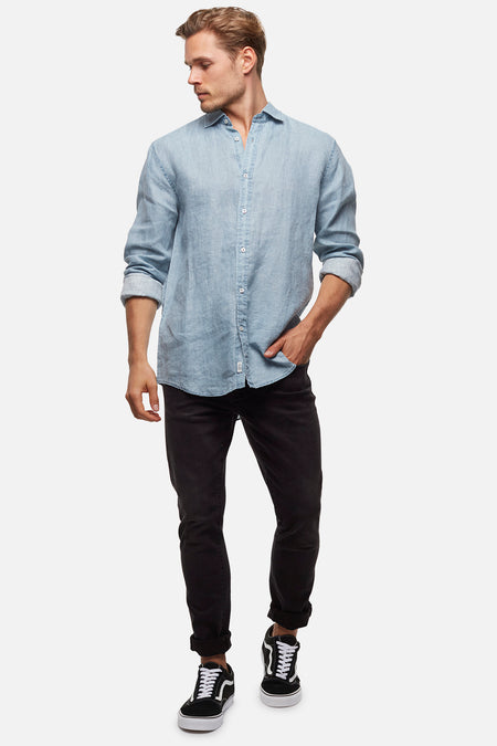 The De Lave Ls Shirt - Sea Green