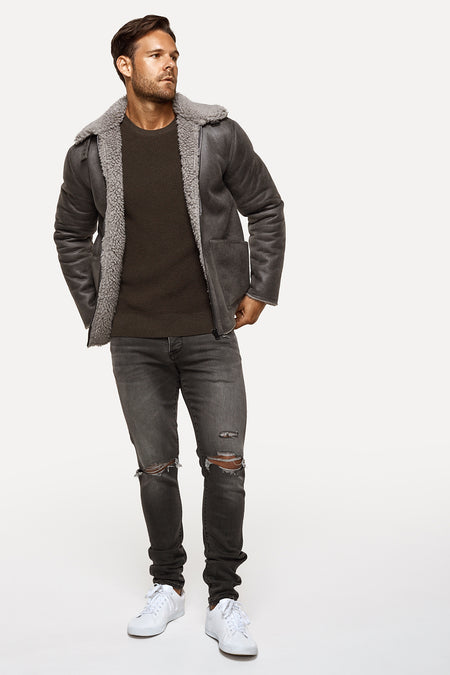 The Allied Jacket - Charcoal