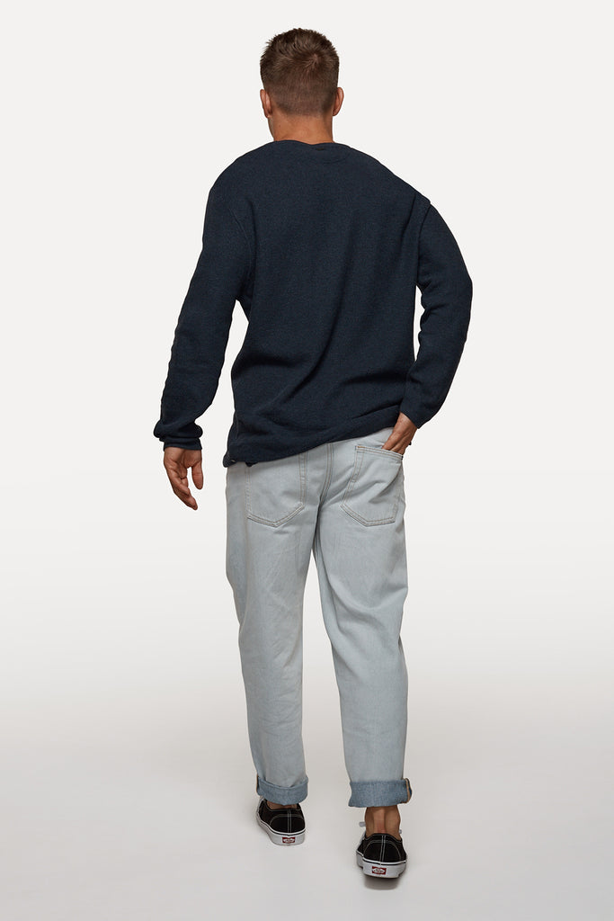 The Brentwood Knit - Navy Marle