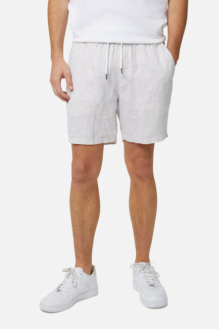 The Agora Linen Short - Wheat