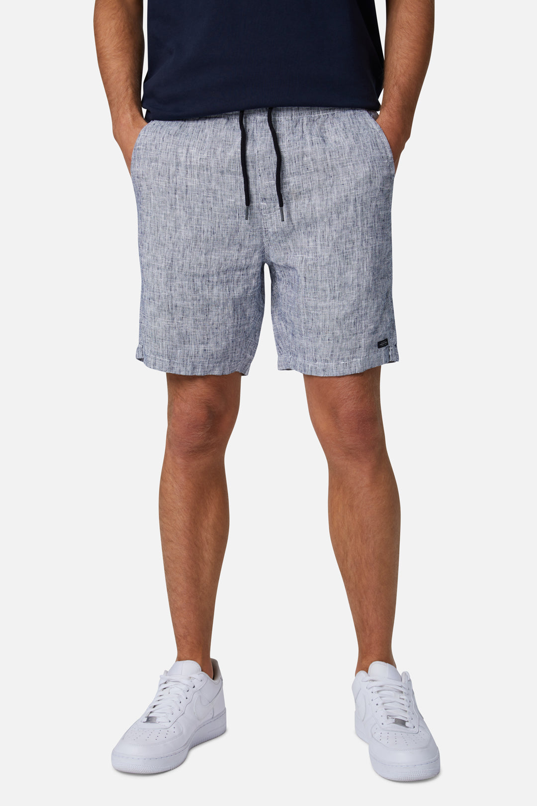 The Agora Linen Short - Blue