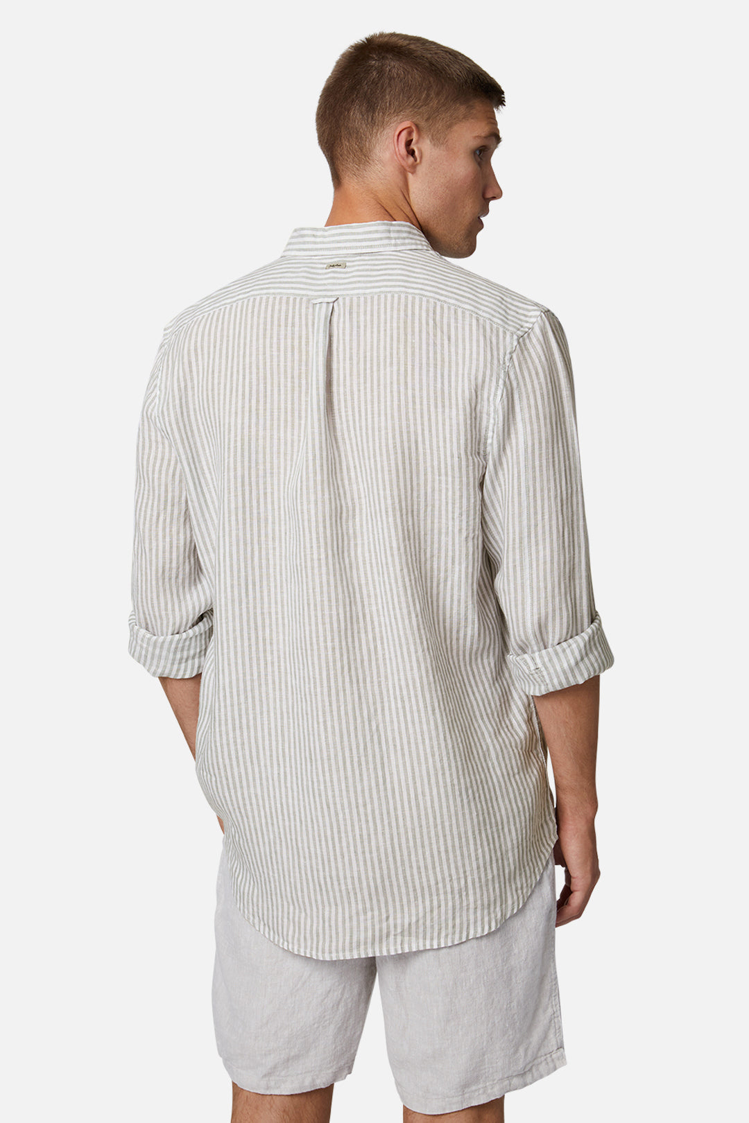 The Southwest Linen L/S Shirt - Wheat White