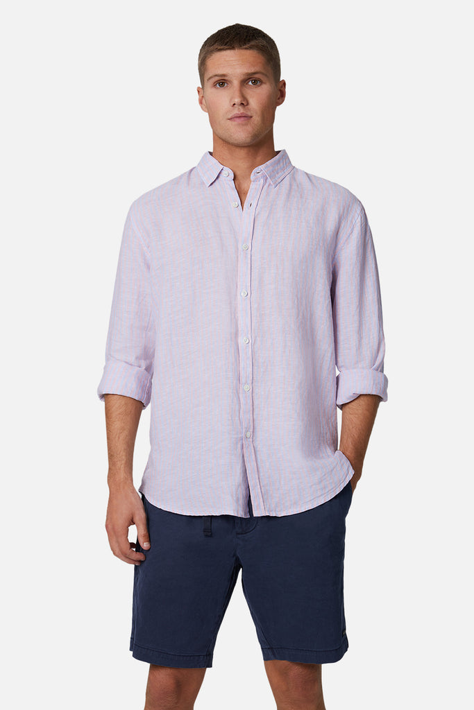 The Palmetto L/S Shirt - Rose/Chamb