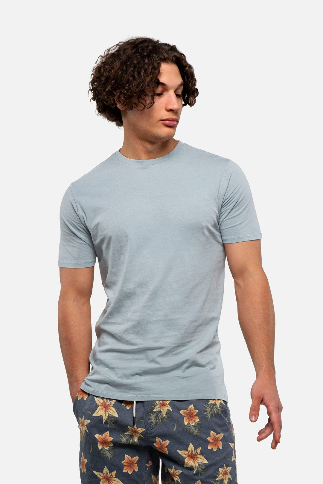 The Basic Classic Tee - Pd Faded Blue