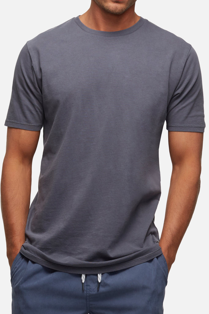 The Basic Classic Tee - Pd Slate