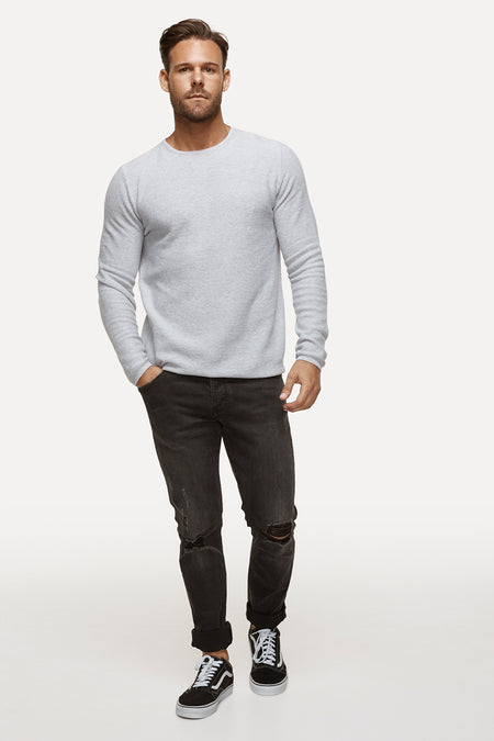 The Richland Knit - Light Marle Grey