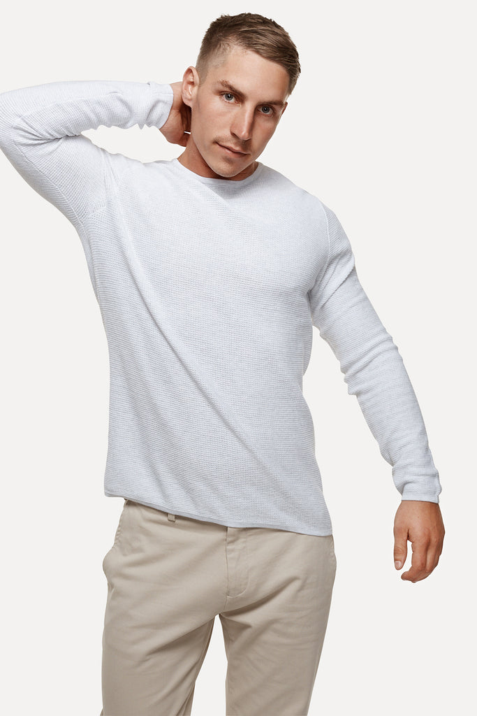 The Richland Knit - Ice Grey M