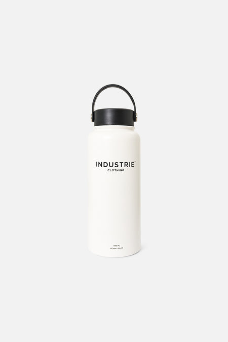 The Plage Water Bottle - White Black