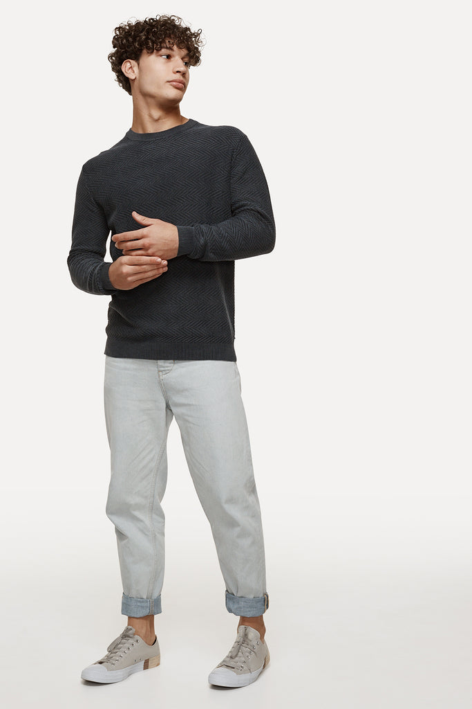 The Nelson Knit - Washed Black