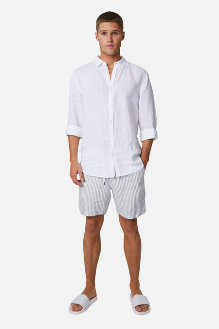 The Bellvue Short - Ofwht/Navy