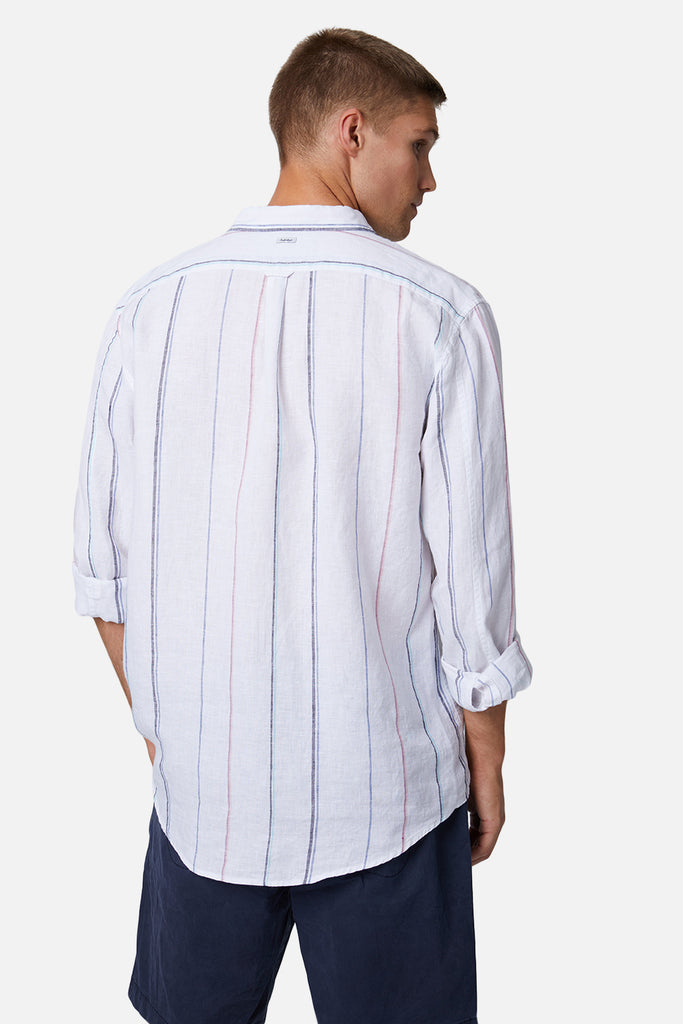 The Palmi L/S Shirt - Whitecombo