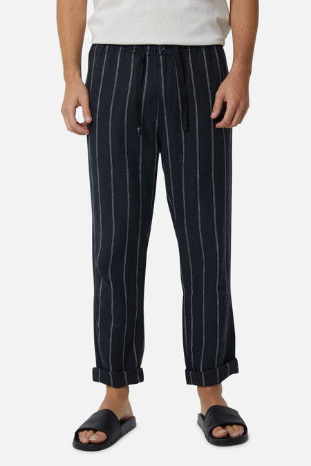 The Torres Linen Pant - Dark Navy Stone