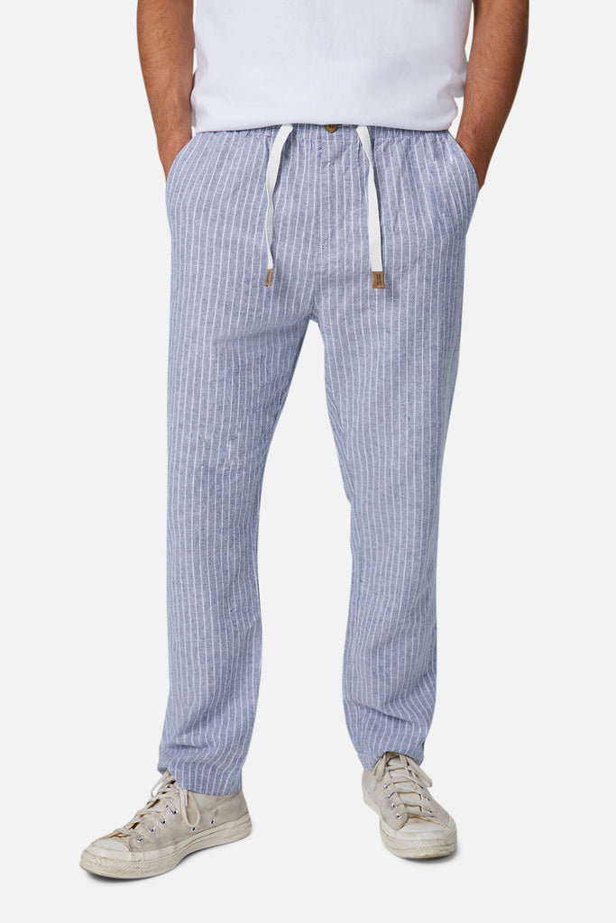 The Montesol Linen Pant - Nvywht