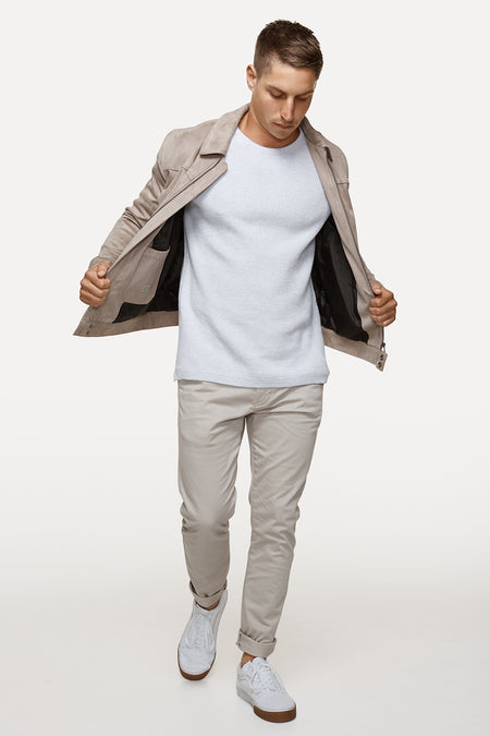 The Boston Jacket - Taupe