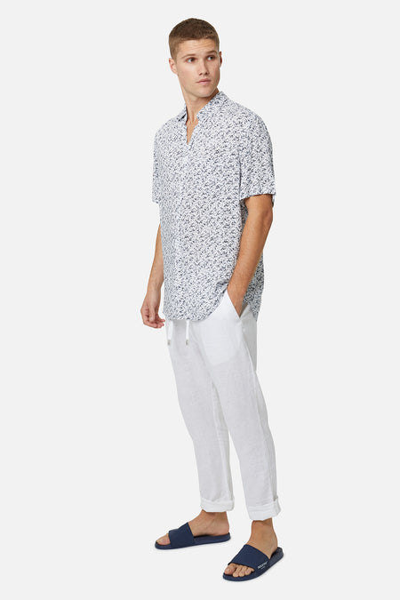 The Mandalay S/S Shirt - White Navy