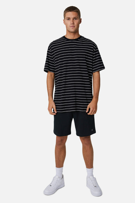 The Striped Del Sur Tee - Black White