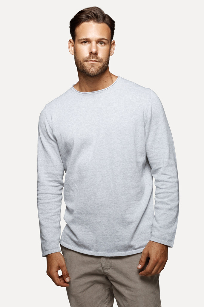 The Drake Knit - Light Marle Grey