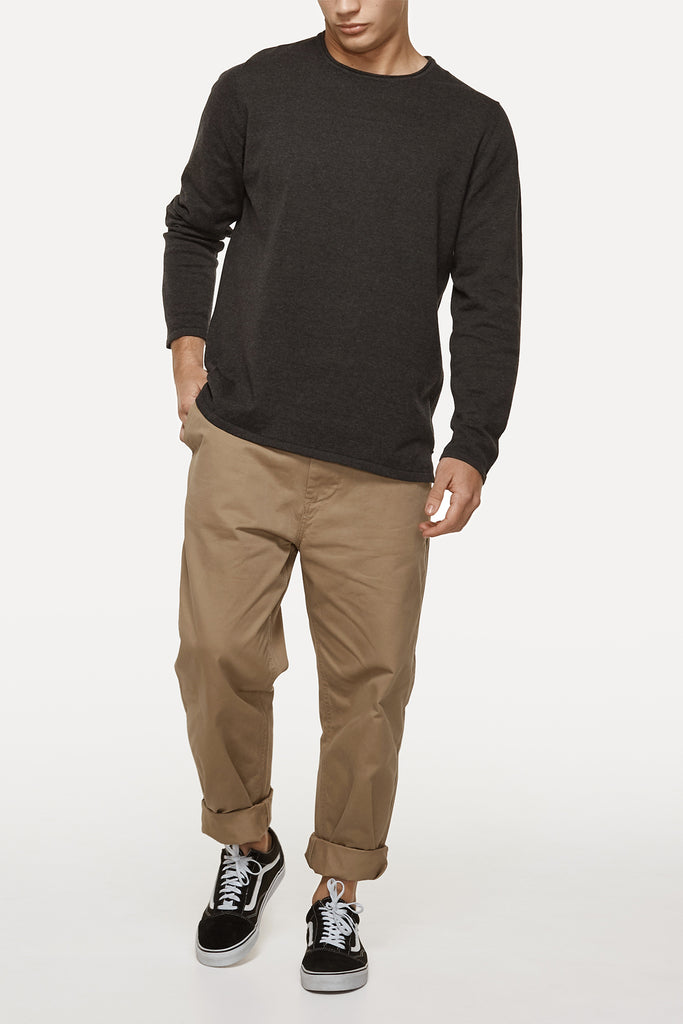 The Drake Knit - Charcoal Marle
