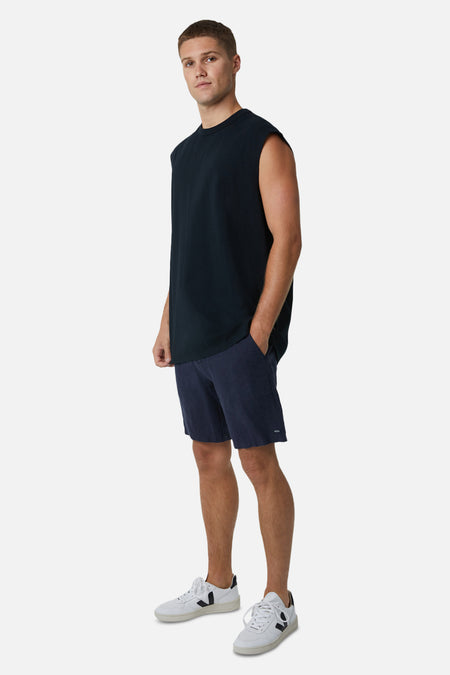 The Del Sur Sleeveless Tee - Black