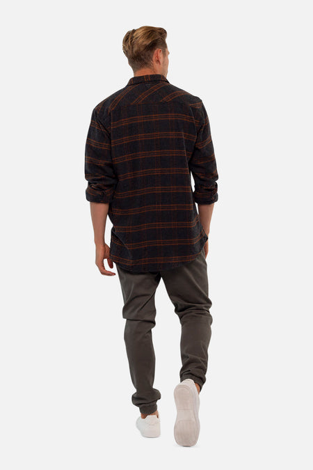 The Coyote L/S Shirt - Grey Russet