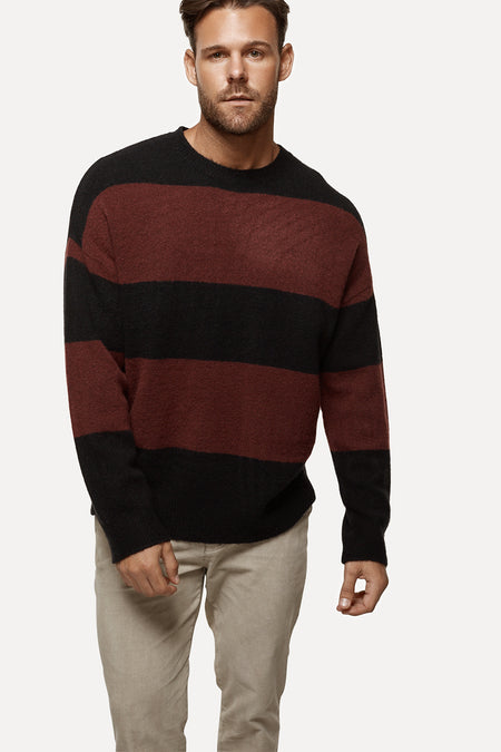The Manhattan Knit - Burgundy Black