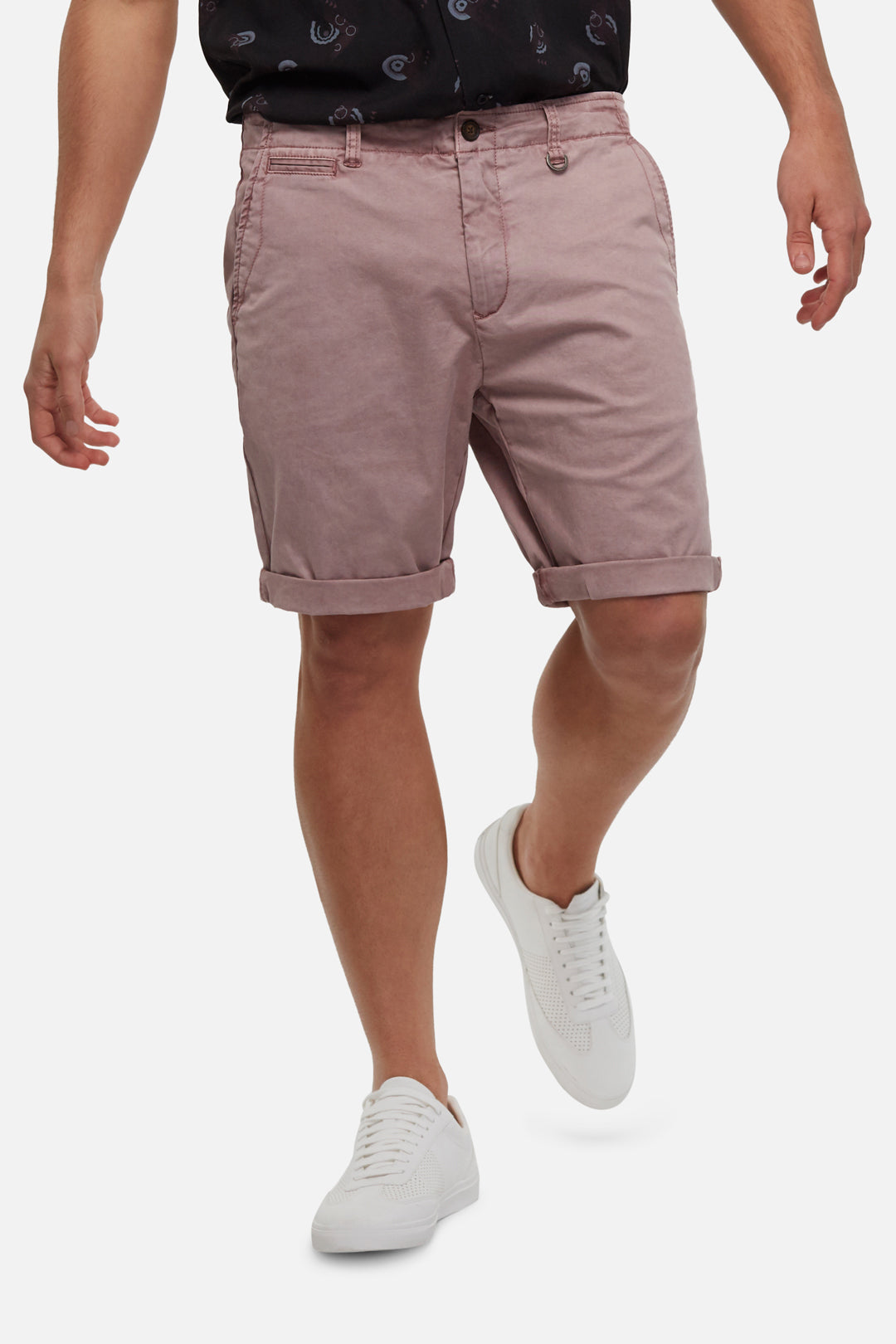 The Washed Rinse Short - Mauve
