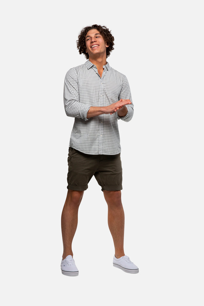 The Washed Rinse Short - New Olive