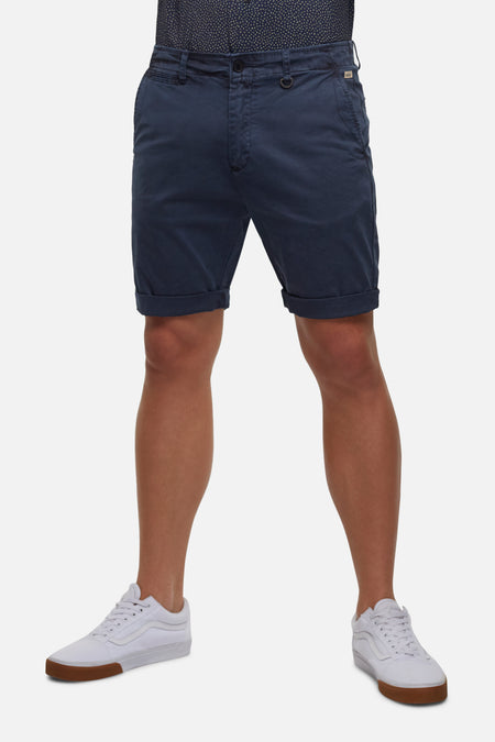 The Washed Rinse Short - Mid Indigo