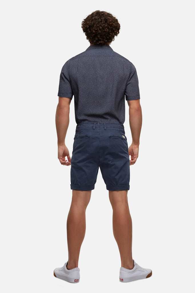 The Washed Rinse Short - Mid Ingigo
