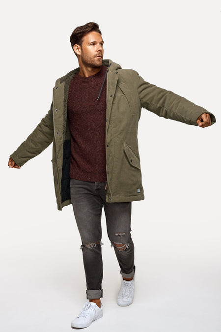 The Combed Cord Sherpa Jacket - Brown