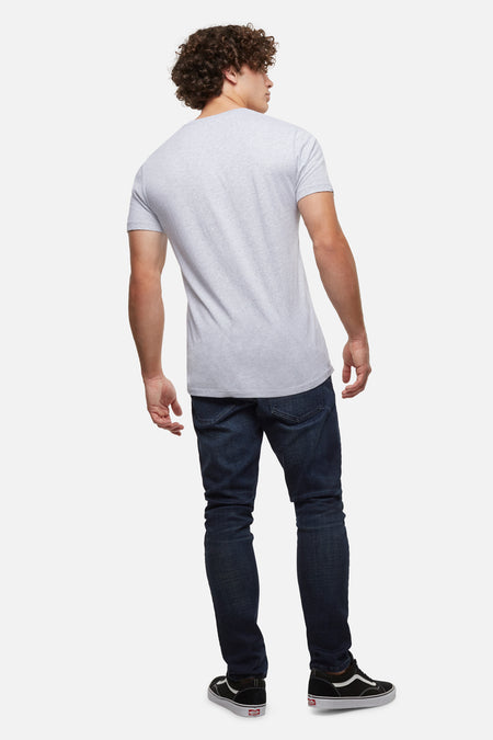 The New Basic Vee S/S Tee - Light Grey Marle