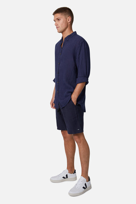 The Baller Linen Short - Dark Navy