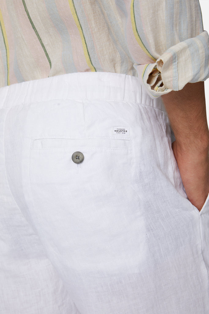 The Baller Linen Short - Yd White