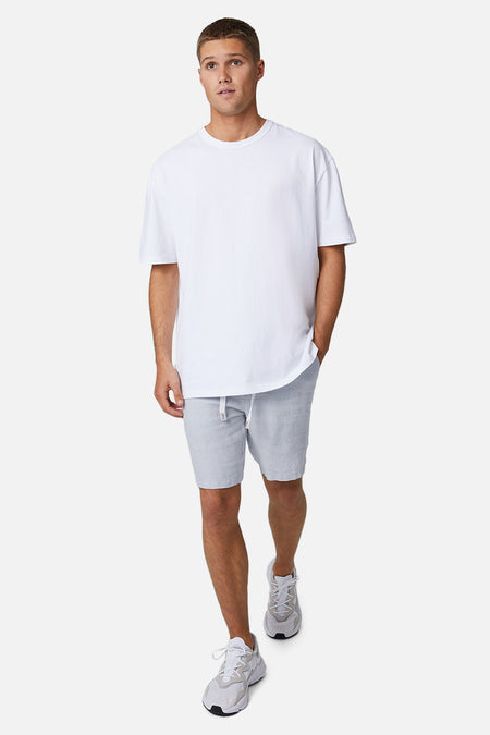 The Baller Linen Short - Posh Grey