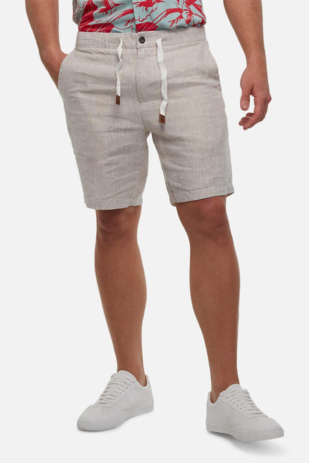 The Baller Linen Short - Yd Wheat