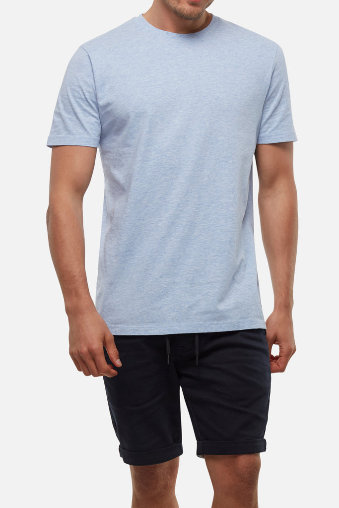 The New Basic Crew S/S Tee - Blue Marle