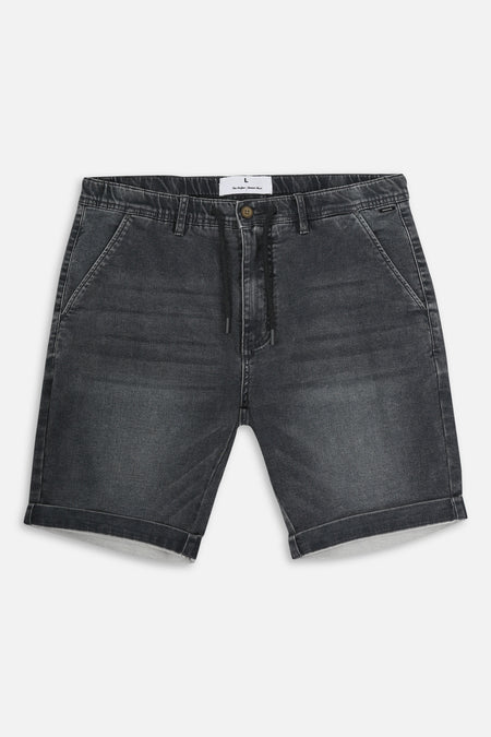 The Drifter Denim Short - Asphalt