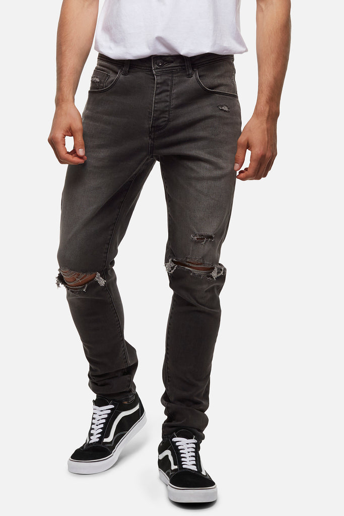The Tailor Jean Damage (Fit B) - Charcoal
