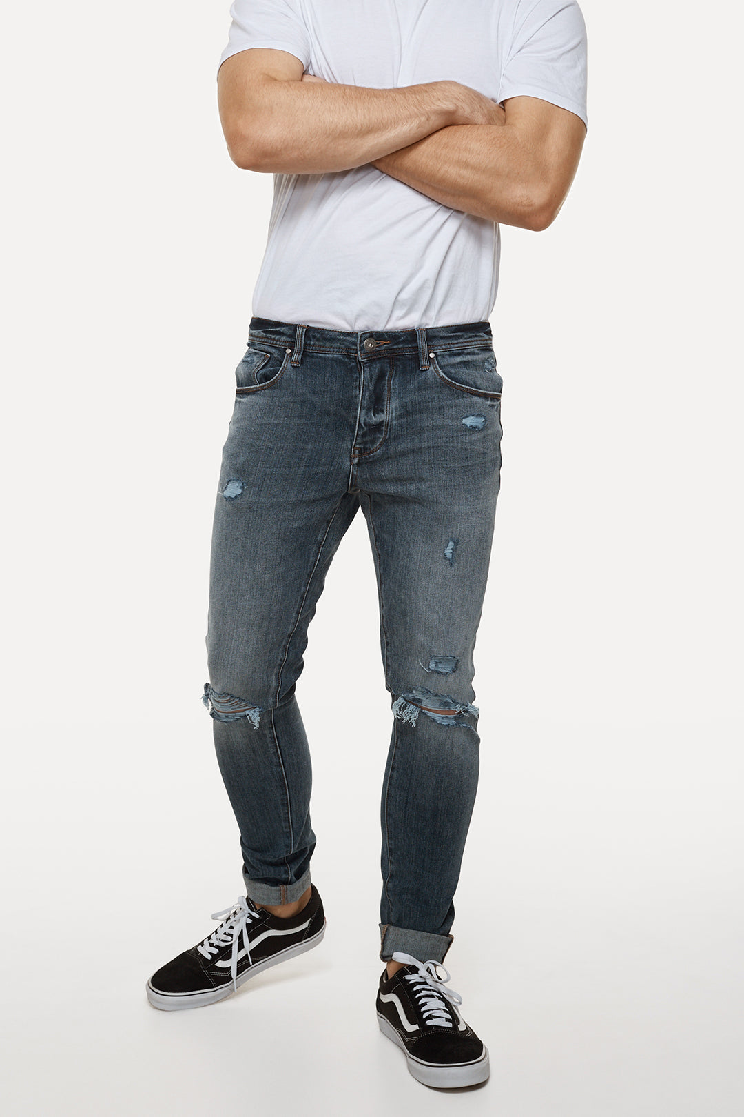 The Tailor Jean Damage (Fit B) - Navarro Blue