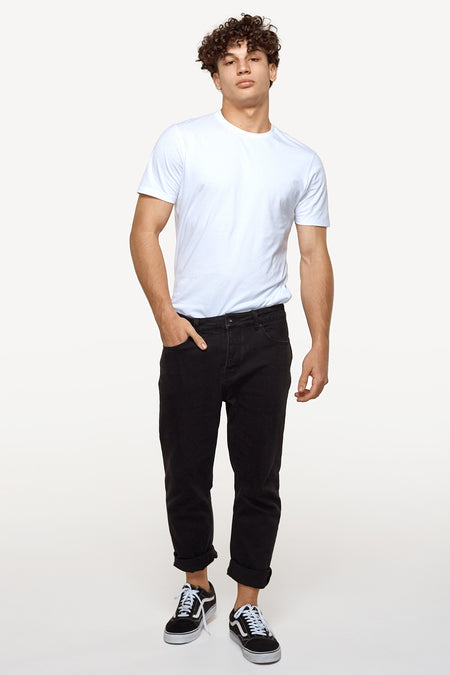 The Mercer Jean (Fit C) - Washed Black