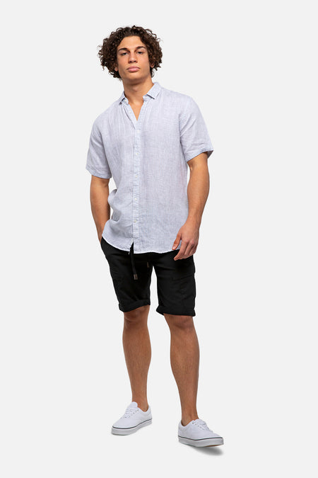 The Thorne Linen S/S Shirt - Forest