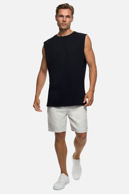 The Triple G Sleeveless Tee - Black