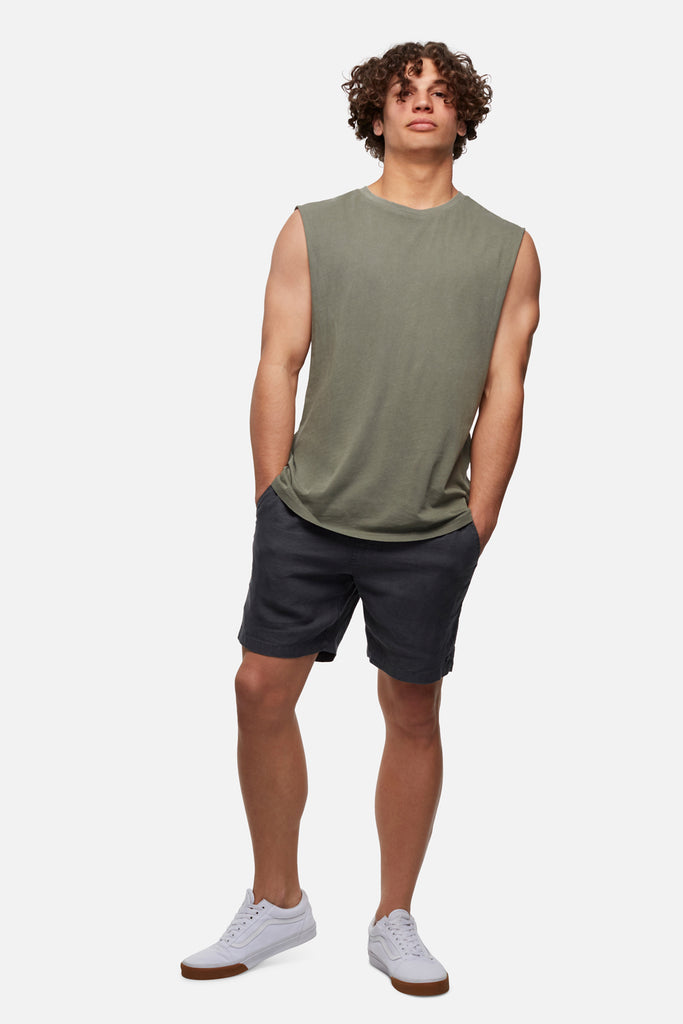 The Triple G Sleeveless Tee - Army Pd