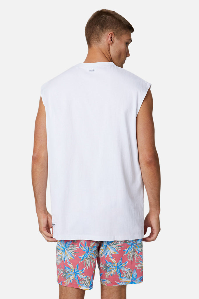 The Triple G Sleeveless Tee - White