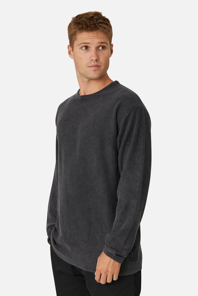The Washed Richland Nf Knit - Charcoal