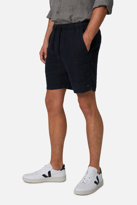 The Marina Linen Short - Black