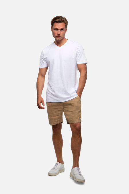 The Marina Linen Short - Camel