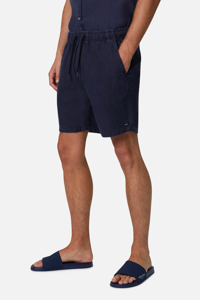 The Marina Linen Short - Dark Navy