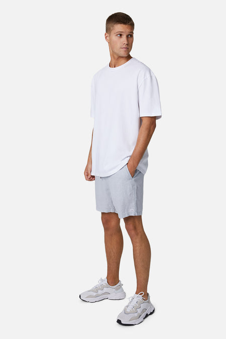 The Marina Linen Short - Posh Grey