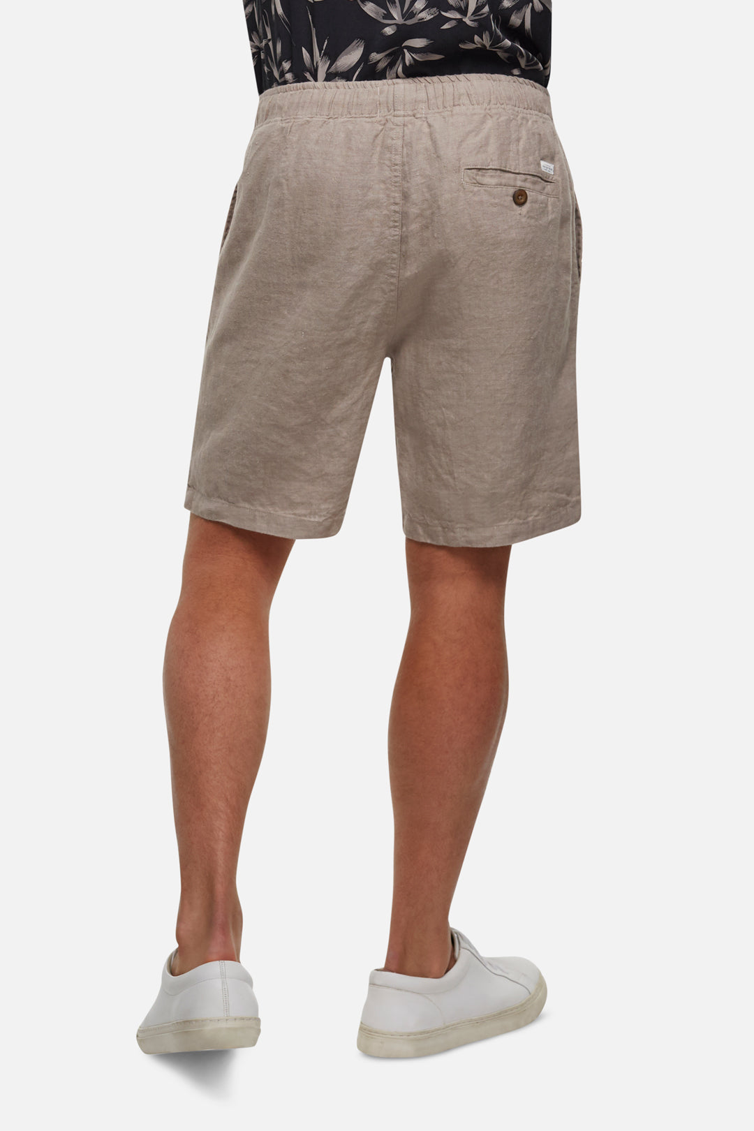 The Marina Linen Short - Flax